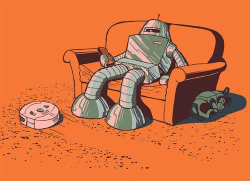lazy robot